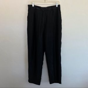 Vintage Focus 2000 Black Skinny Textured Pants 14P